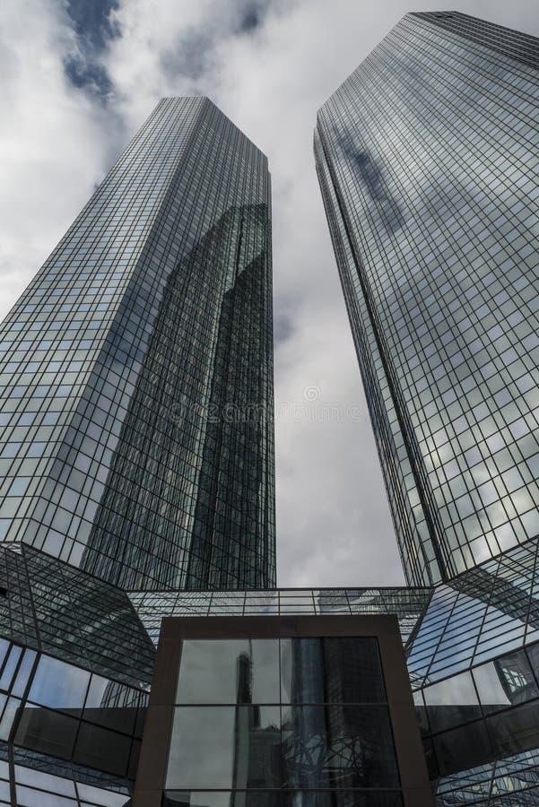 Deutsche Bank w Frankfurt magistrala - Am - obraz royalty free
