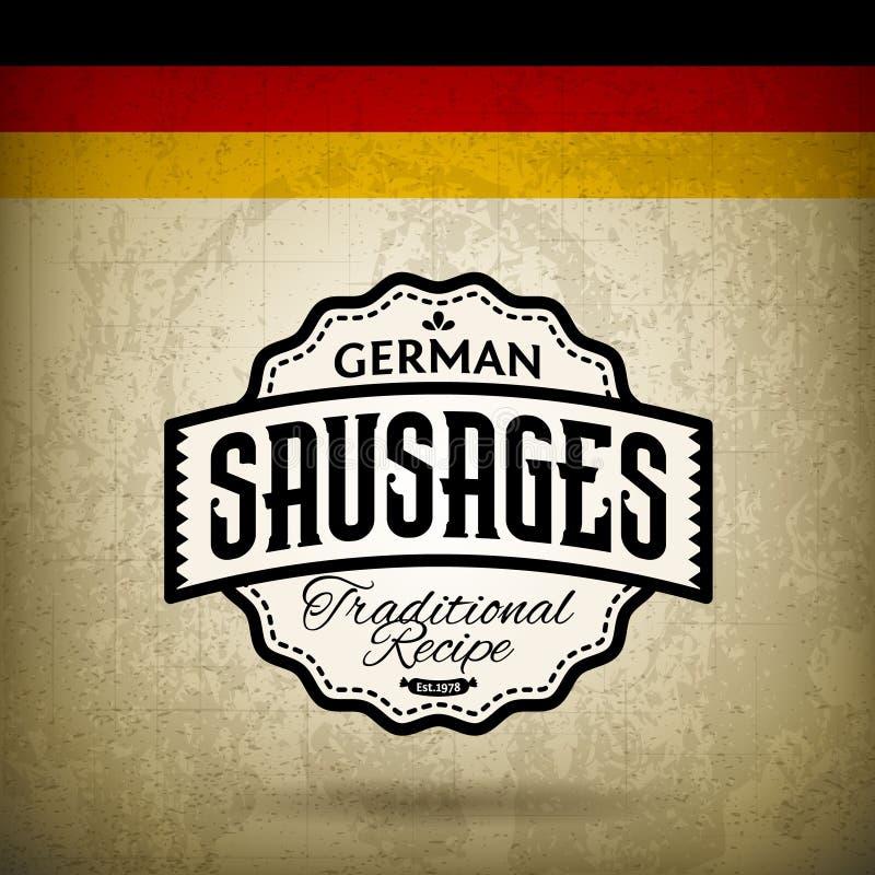 Deutsche Bratwurst stock abbildung