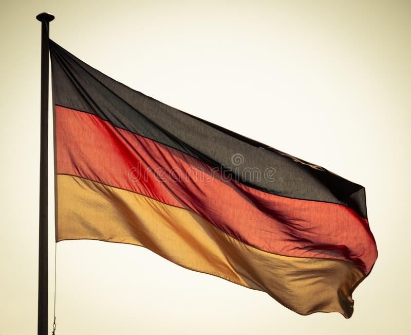 Deutsche Flagge stockbilder