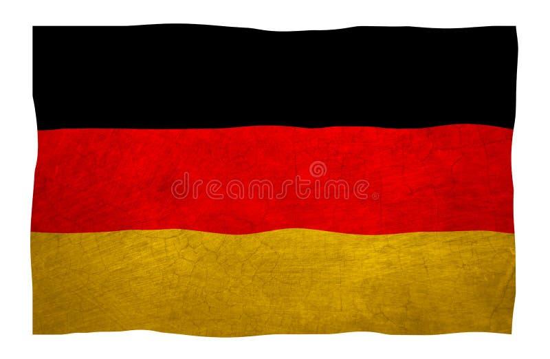 Deutsche Flagge der Grungy alten Weinlese lizenzfreie stockbilder