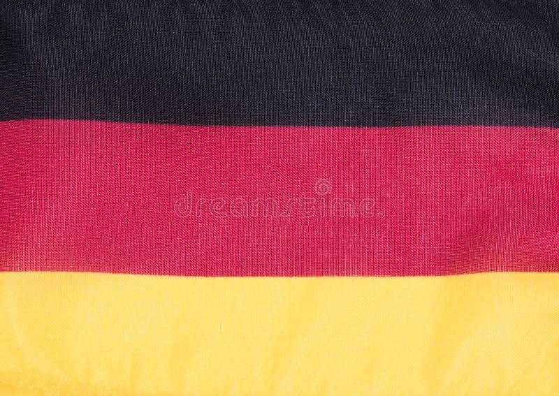 Deutsche Flagge gemacht vom Stoff stockfotografie