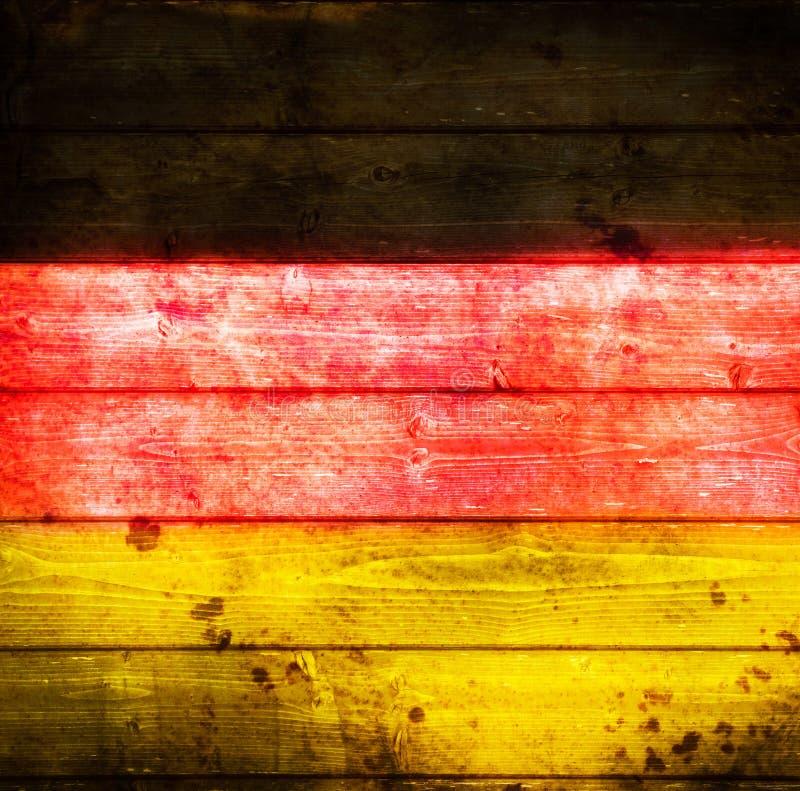 Deutsche Flagge im altem Stil stockfoto
