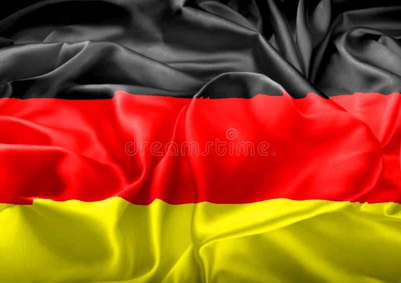 Deutsche Flagge und Herz stockfoto