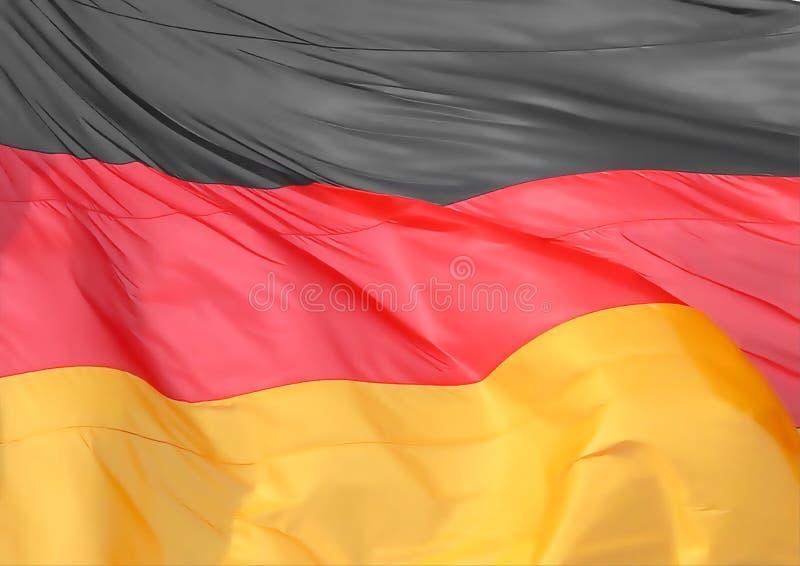 Deutsche Flagge von Deutschland stockfotos