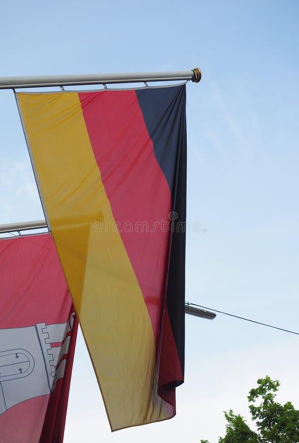Deutsche Flagge von Deutschland stockbild