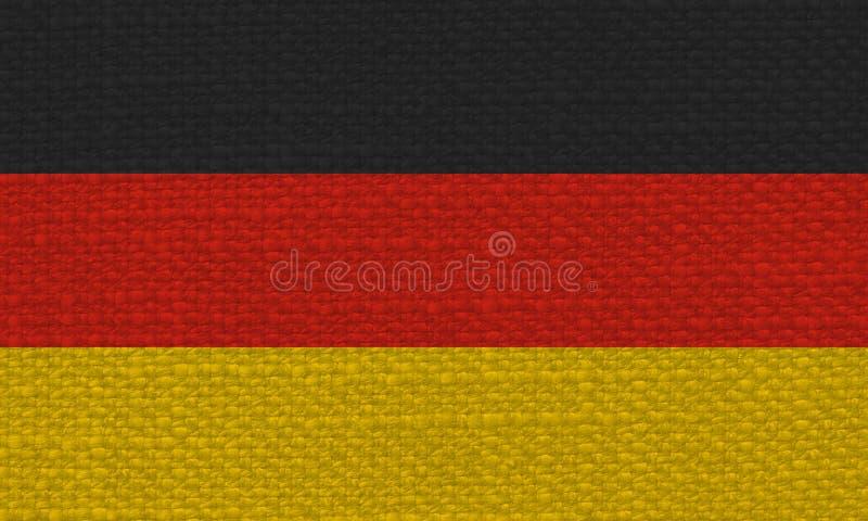 Deutsche Flagge von Deutschland mit Gewebebeschaffenheit stockfotografie