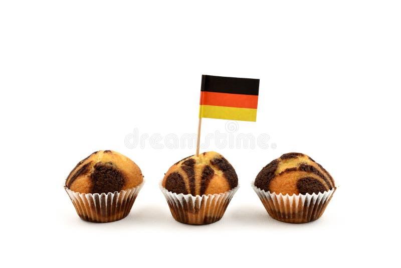 Deutsche Flagge Zahnstocherarchivbilder stockfotografie