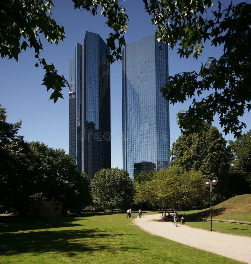 deutsche frankfurt банка стоковая фотография