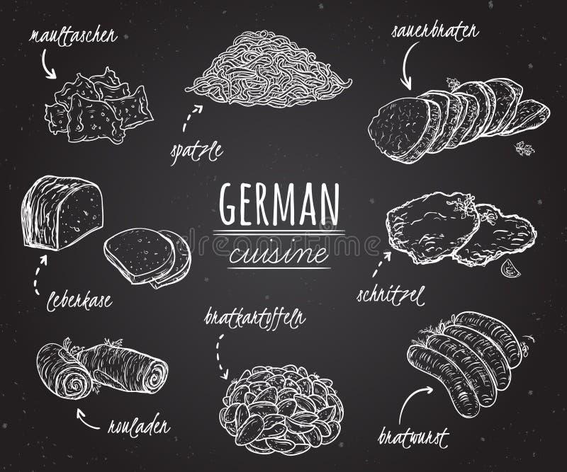 Deutsche Küche Sammlung Köstliches Lebensmittel In Der Linie ...