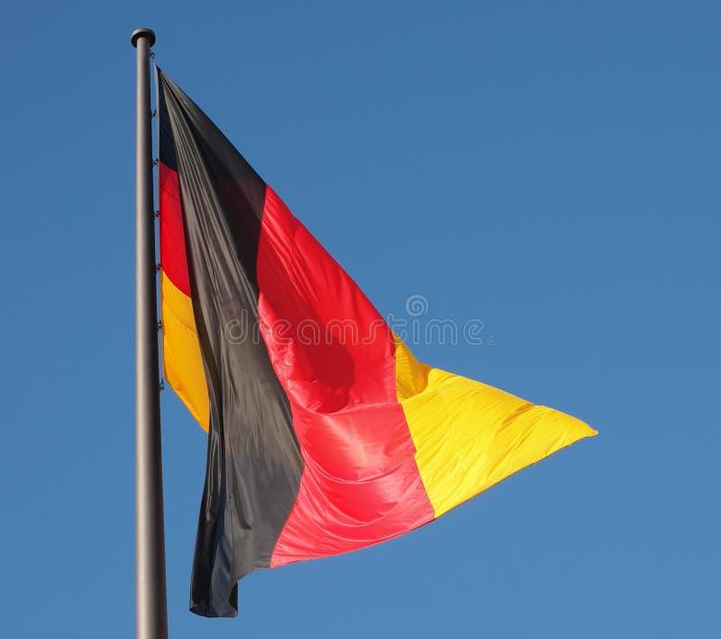Deutsche Markierungsfahne lizenzfreie stockfotografie