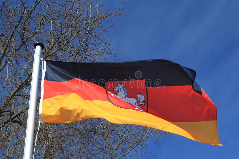 Deutsche Markierungsfahne stockfotos