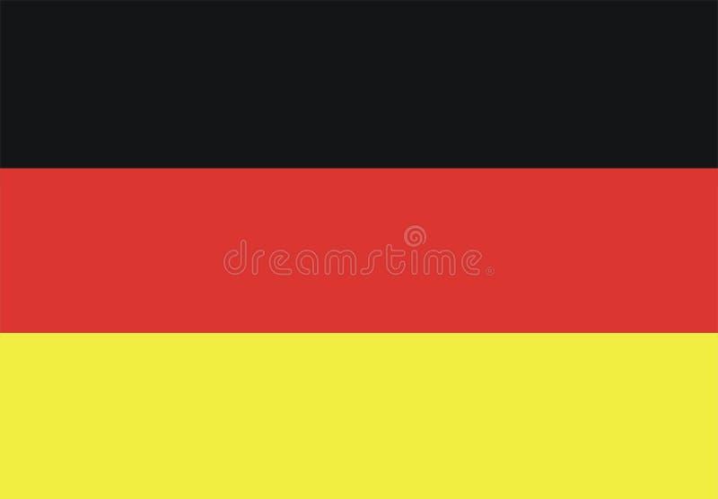 Deutsche Markierungsfahne stock abbildung