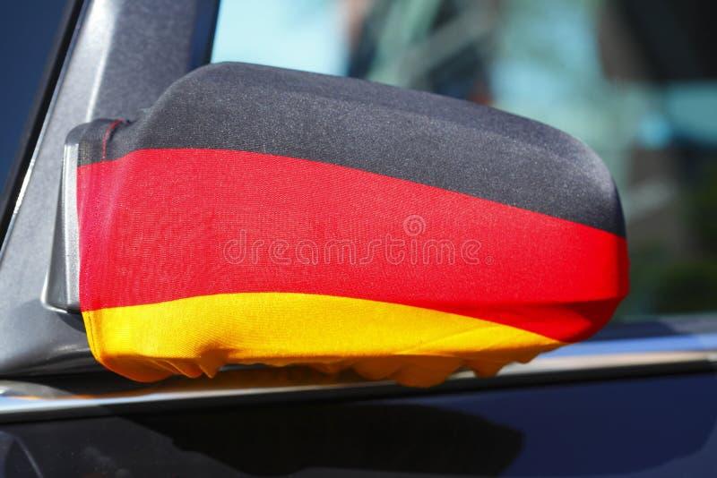 Deutsche Markierungsfahne lizenzfreie stockbilder
