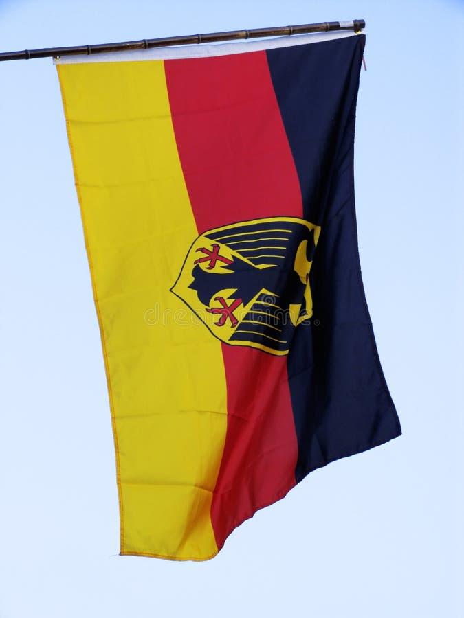Deutsche Markierungsfahne stockfoto