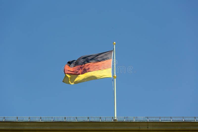 Deutsche Markierungsfahne stockfotografie