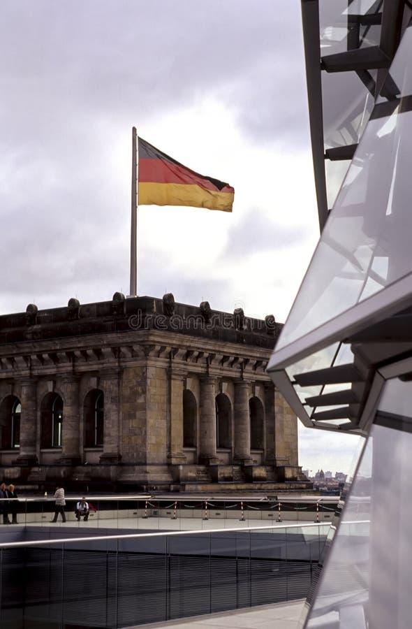 Deutsche Markierungsfahne Berlin, Deutschland lizenzfreie stockbilder