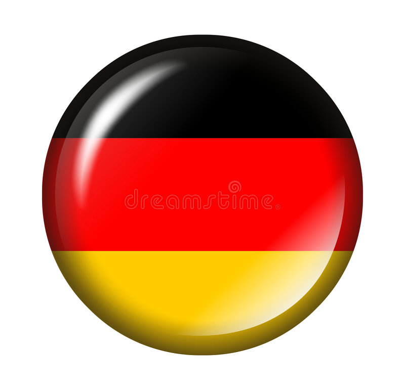 Deutsche Markierungsfahnentaste mit Effekt 3d vektor abbildung