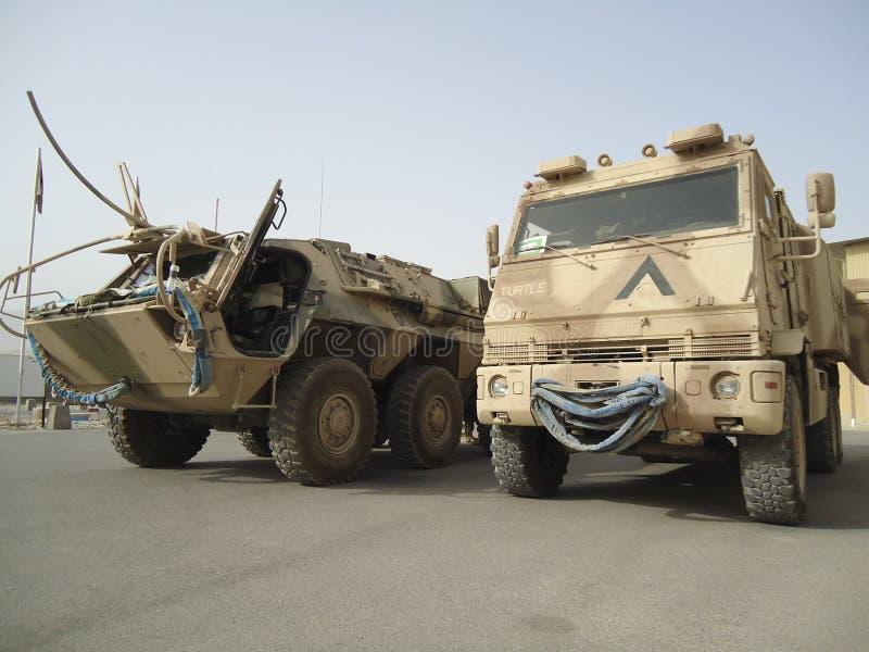 Deutsche Militärsanitätswagen stockfoto