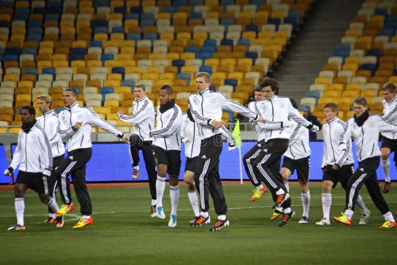 Deutsche nationale Fußball-Mannschaftsspieler lizenzfreie stockbilder
