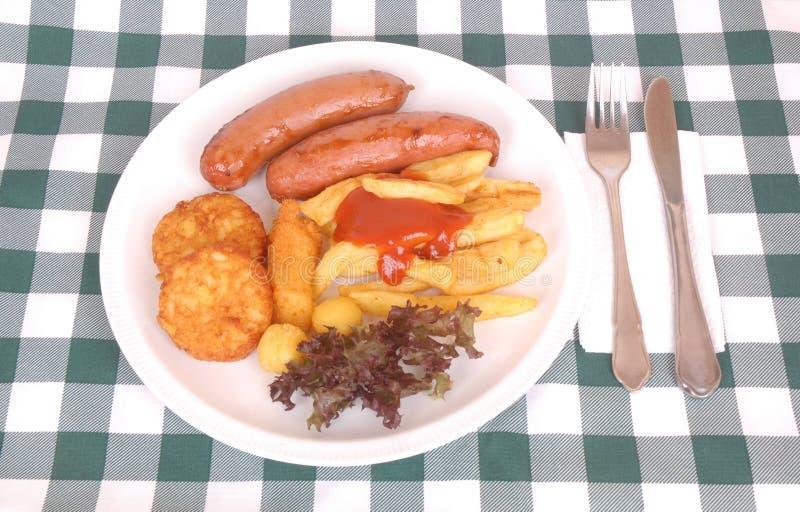 Deutsche Oktoberfest Mahlzeit lizenzfreie stockfotos