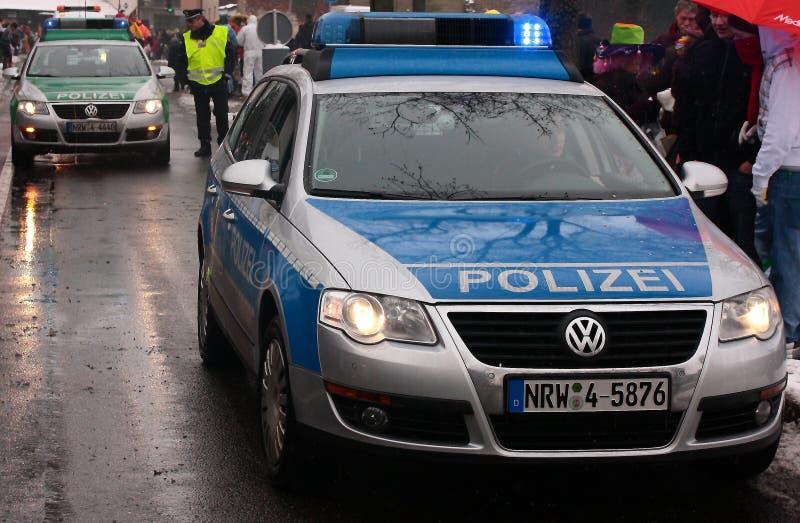 Deutsche Polizeiwagen lizenzfreie stockfotos