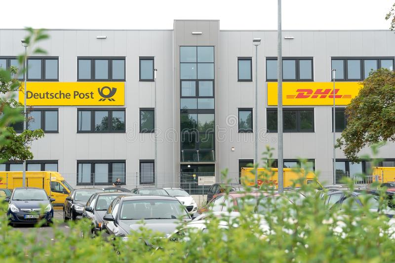 Deutsche Post allemand DHL photographie stock