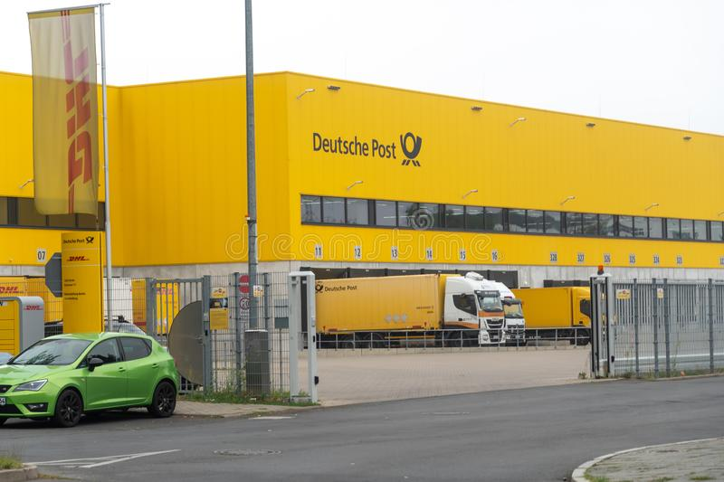 Deutsche Post allemand DHL image libre de droits