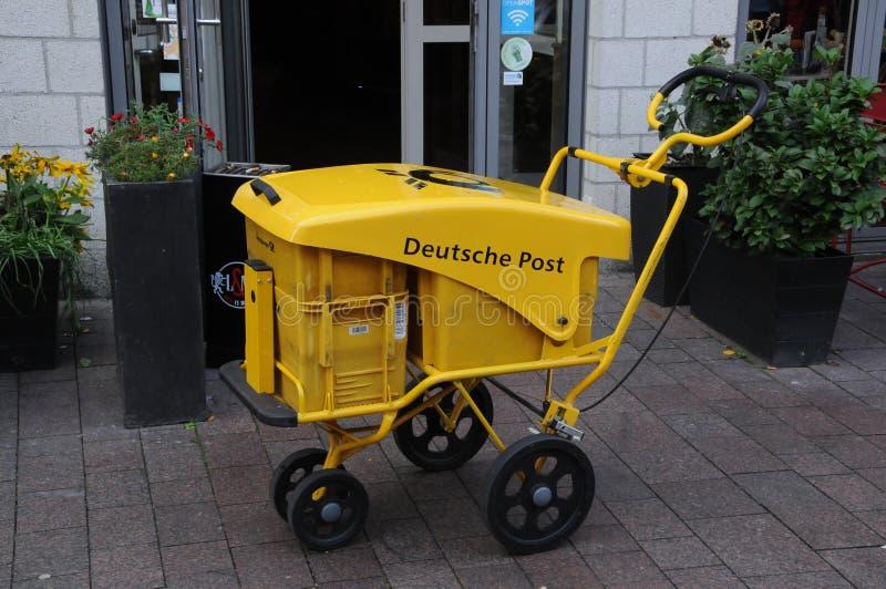 Deutsche-Posten in Flensburg Deutschland lizenzfreie stockfotos