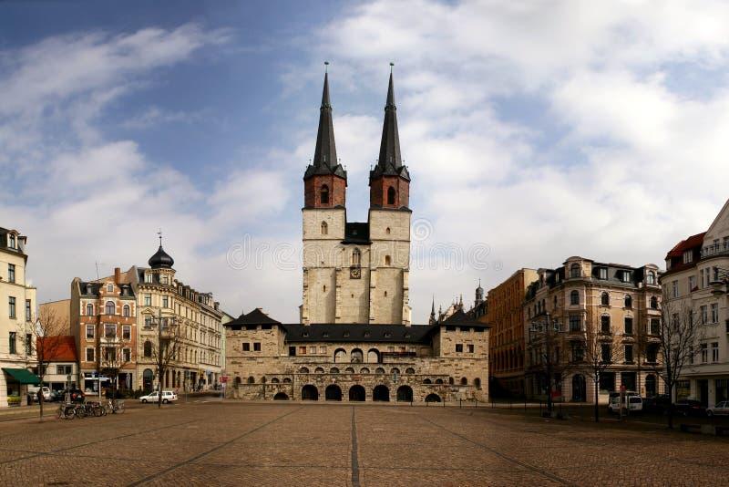 Deutsche Stadt Halle lizenzfreie stockfotos