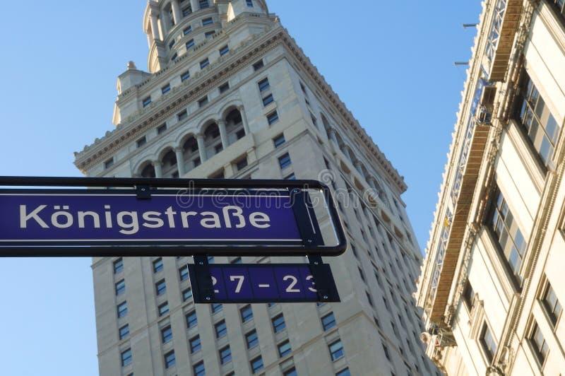 Deutsche Straße in Cleveland lizenzfreie stockfotografie