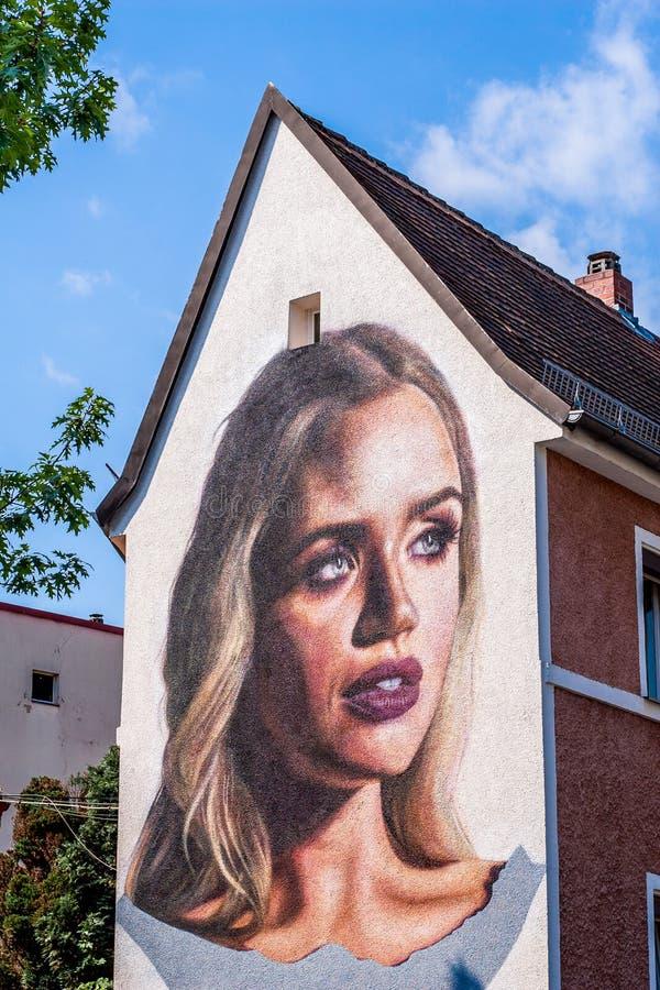 Deutsche Straßen-Kunst - Bayreuth lizenzfreie stockfotografie
