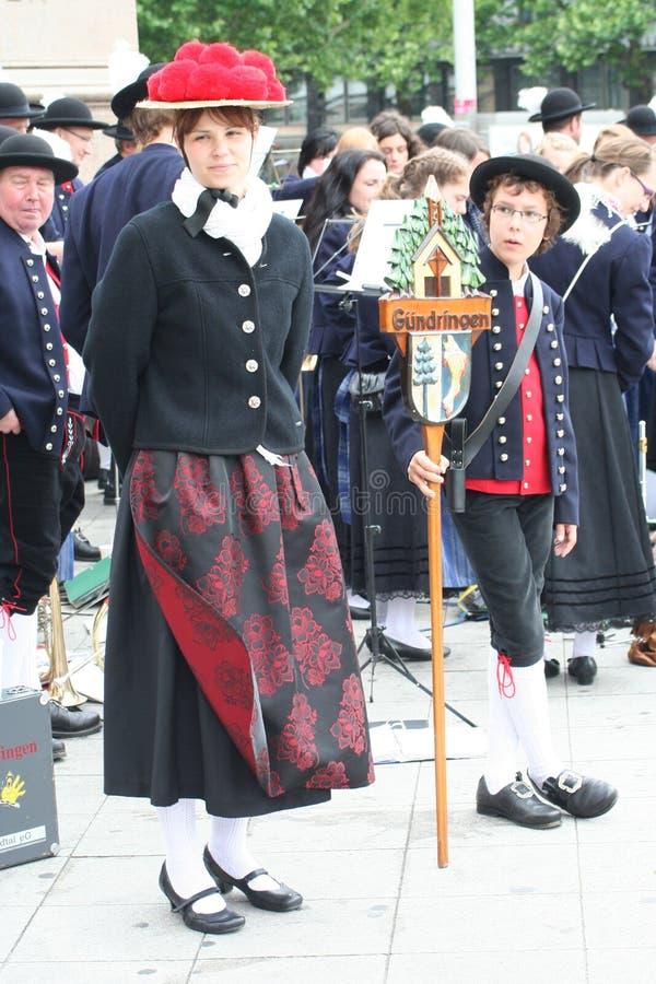 Deutsche traditionelle Ausstattung stockfoto