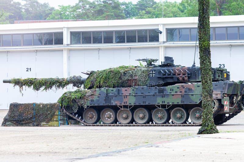 Deutscher Hauptpanzer Leopard 2A6 lizenzfreies stockfoto