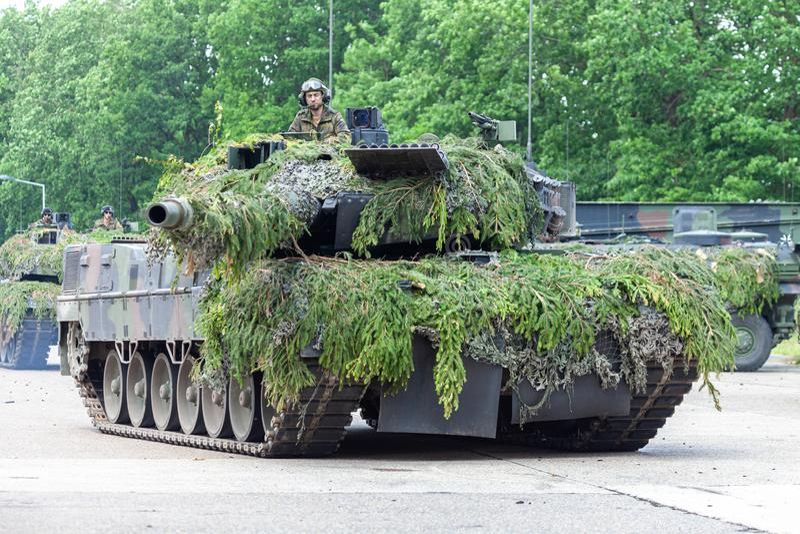 Deutscher Hauptpanzer Leopard 2A6 stockbild