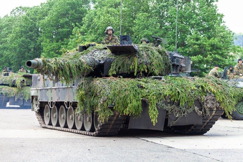 Deutscher Hauptpanzer Leopard 2A6 stockbilder