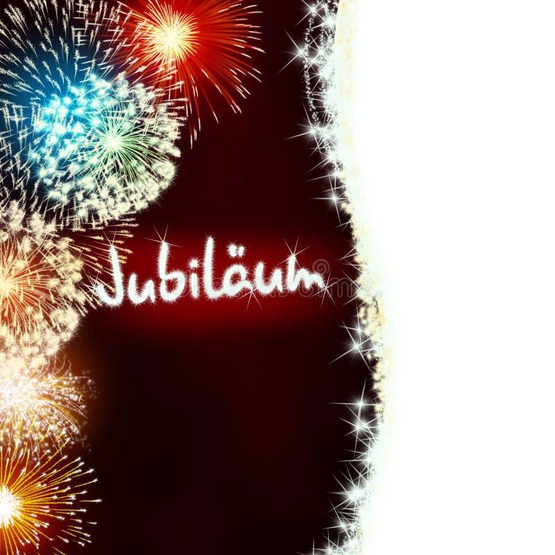 Deutscher Jubiläum-Jubiläumjahrestags-Feuerwerksrot lizenzfreie stockfotografie