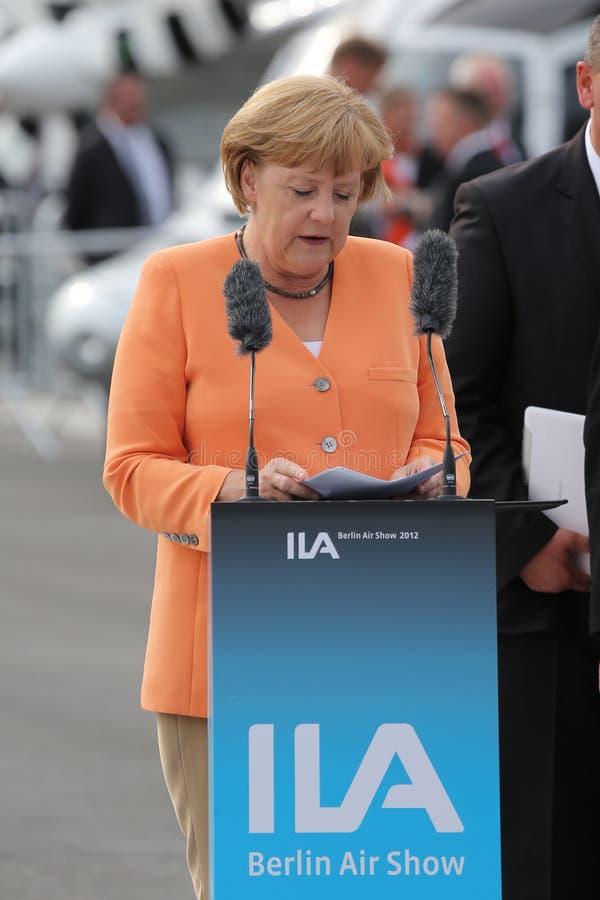 Deutscher Kanzler Angela Merkel stockfoto