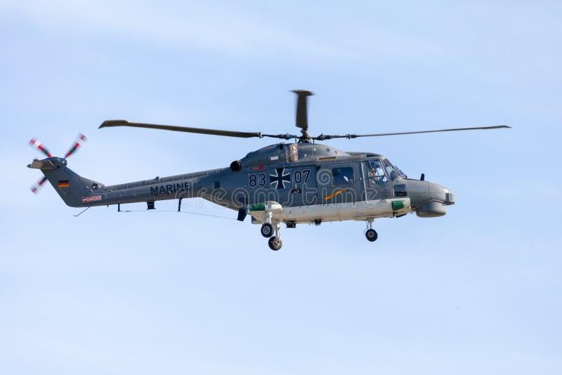 Deutscher Militärplattformhubschrauber Seeluchs M 88 A lizenzfreies stockbild