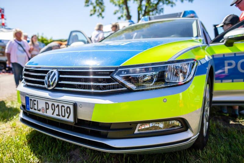 Deutscher Polizeiwagen stockfoto