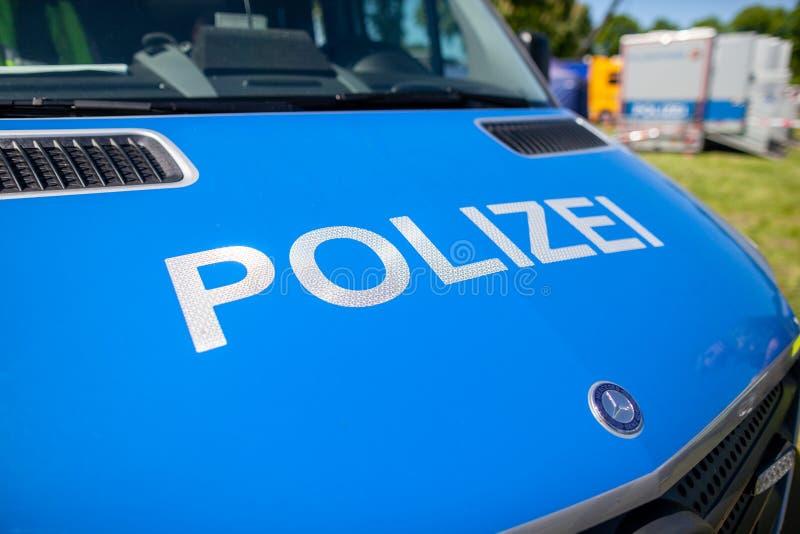 Deutscher Polizeiwagen stockbilder