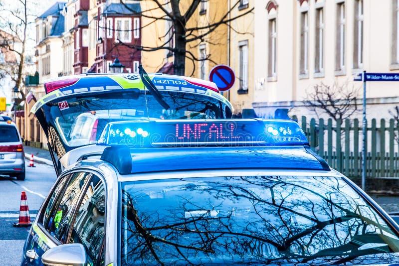 Deutscher Polizeiwagen stockbild