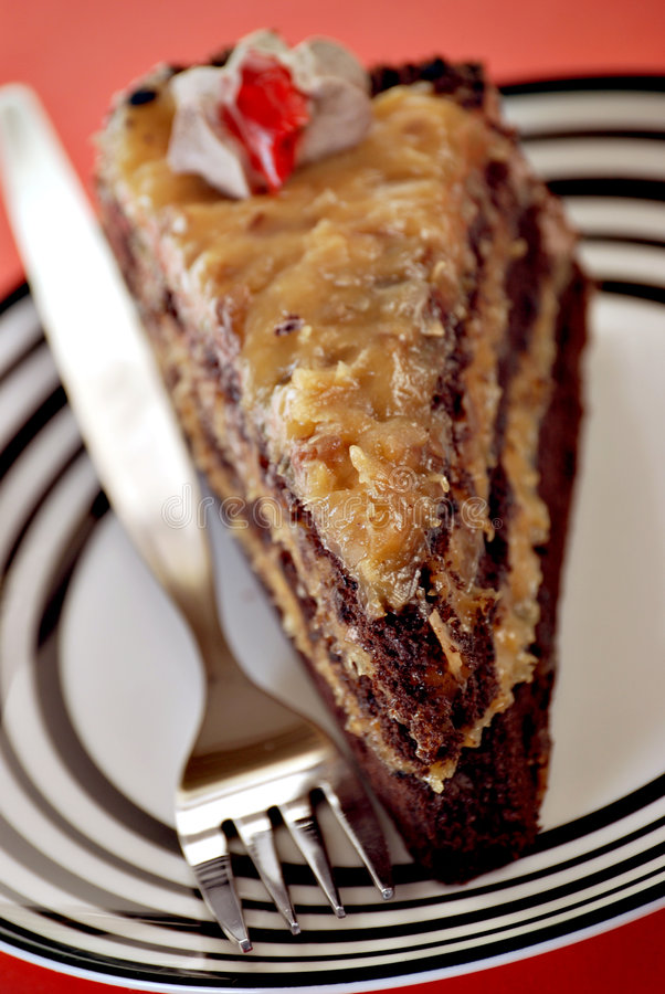 Deutscher Schokoladenkuchen lizenzfreies stockbild