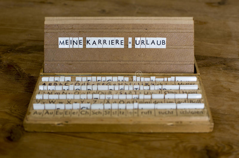 Deutscher Text: Meine Karriere Urlaub lizenzfreie stockfotografie