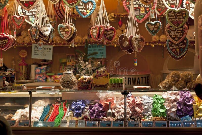 Deutscher Weihnachtsmarkt-Strömungsabriß lizenzfreies stockfoto