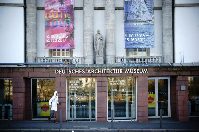 Deutsches Architektur-Museum Frankfurt stockfoto