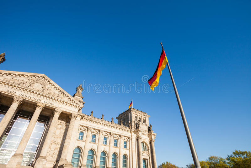 Deutsches Bundesparlament (Reichstag) stockbilder