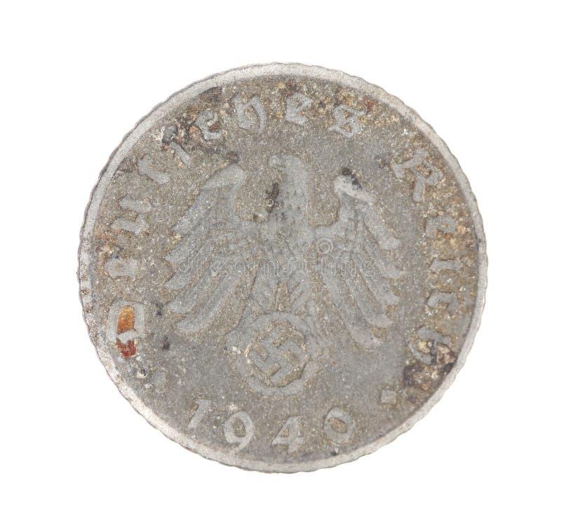 Deutsches coin. Back view. stock photo