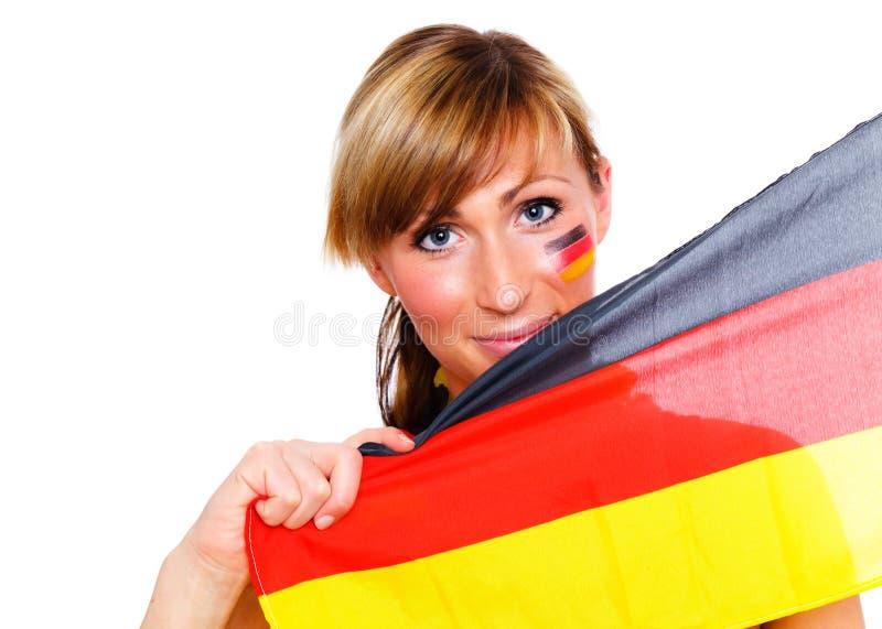 Deutsches Fußbalgebläse lizenzfreie stockfotografie