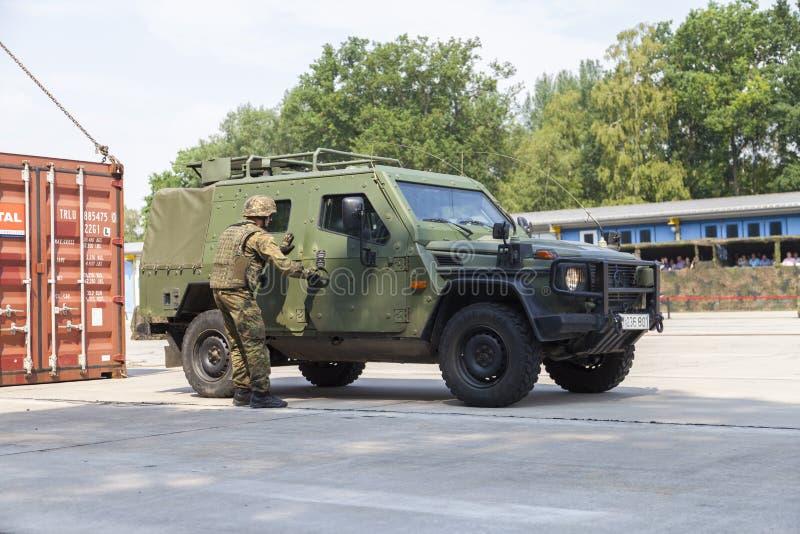 Deutsches helles gepanzertes Patrouillenfahrzeug Enok lizenzfreie stockfotografie