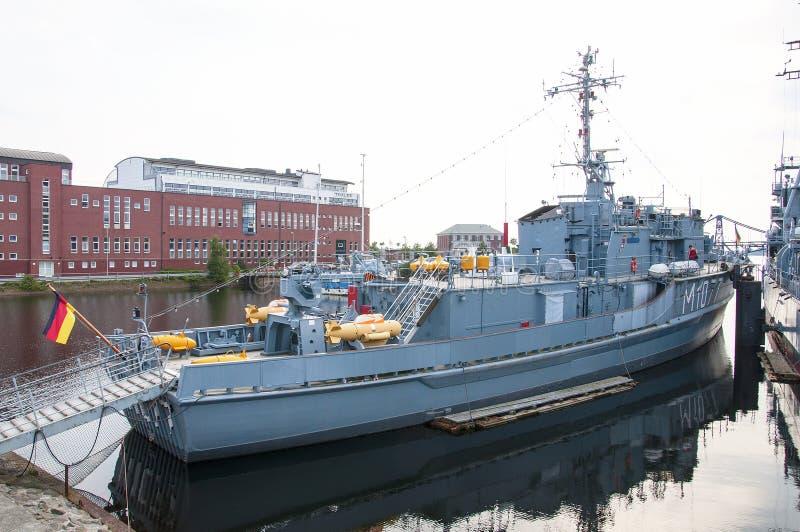 Deutsches Marine Museum in Wilhelmshaven, Nord-Deutschland lizenzfreies stockbild